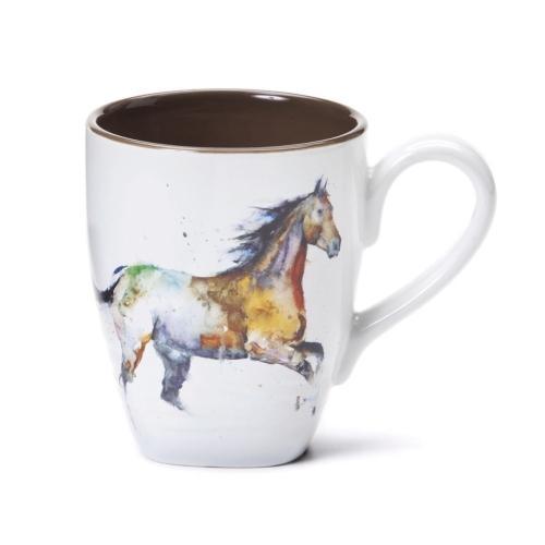 Watercolor Running Horse Mug