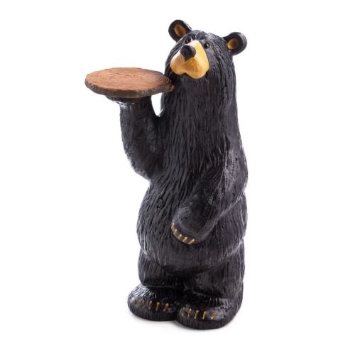 Black Bear Waiter Accent Table