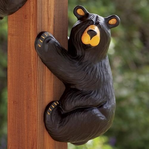 Climbing Black Bear Statue