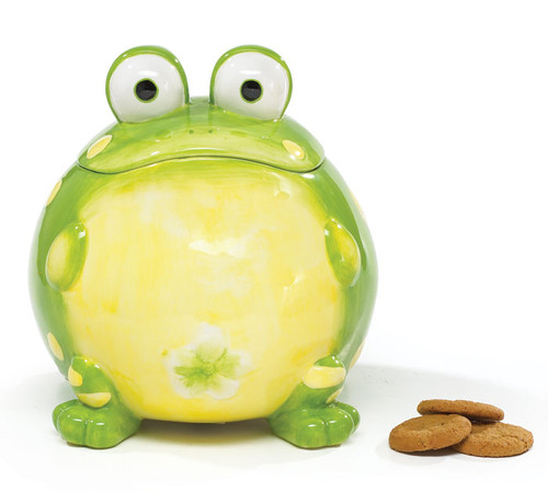 Frog Shaped Cookie Jar