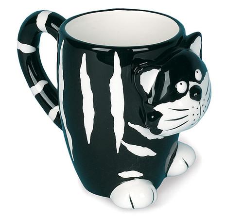 Black & White Striped Cat Mug