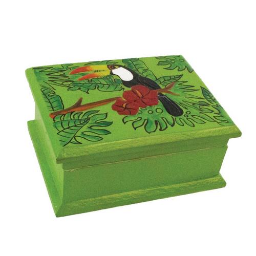 Green Toucan Storage Box