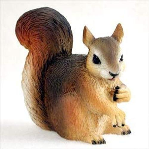 Squirrel, Red Figurine