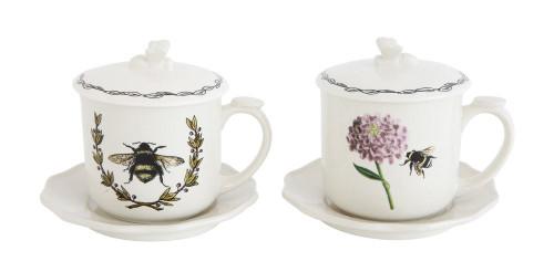 Bee Tea Cup, Saucer & Strainer Set