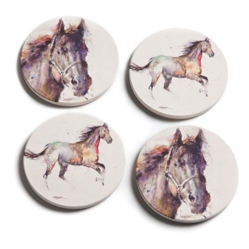 Watercolor Horse Coaster Set
