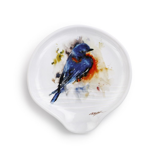 Watercolor Bluebird Spoon Rest