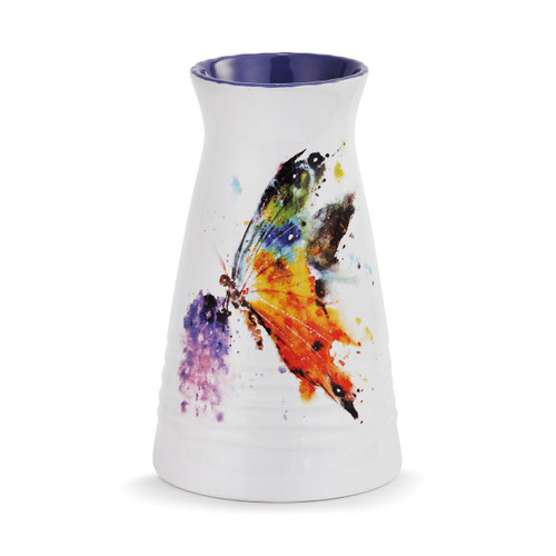 Watercolor Butterfly Vase