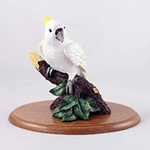 Cockatoo Figurine on Wood Base