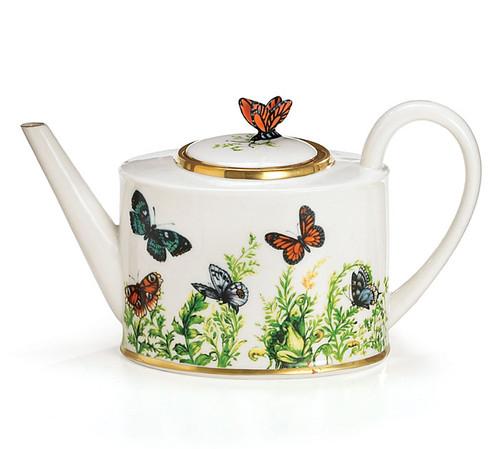 Porcelain Butterfly Teapot