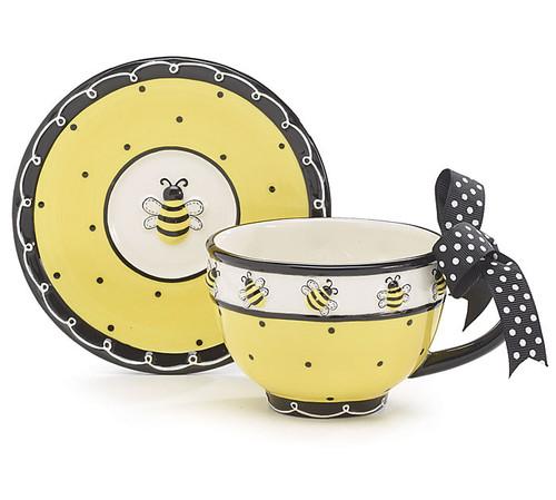 Bee Teacup & Saucer