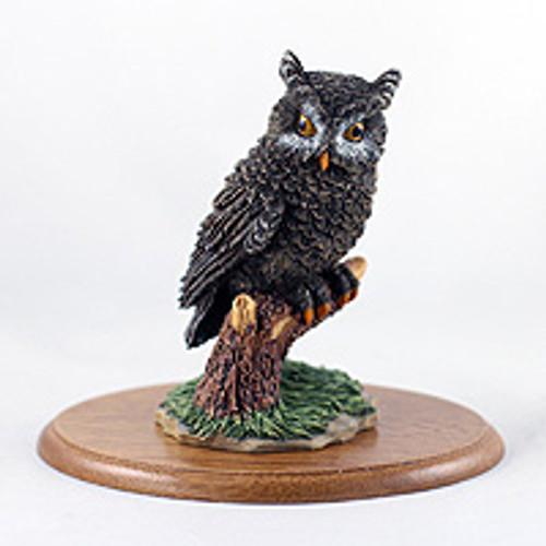 Owl Figurine on Wood Base