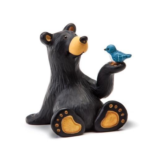 Mini Black Bear with Blue Jay