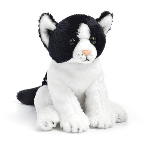 Black & White Cat Plush Beanbag Toy