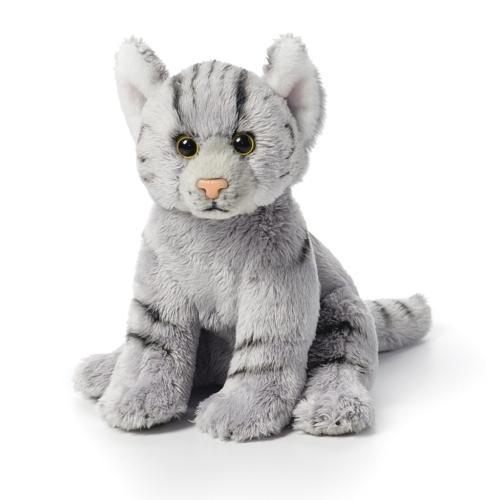 Gray Tabby Cat Plush Beanbag Toy