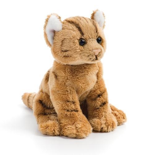Orange Tabby Cat Plush Beanbag Toy