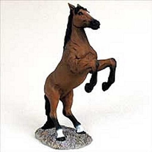 Bay Horse Rearing Figurine