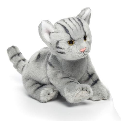Gray Tabby Cat Plush Toy