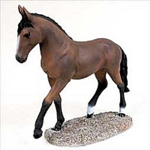 Bay Horse Trotting Figurine