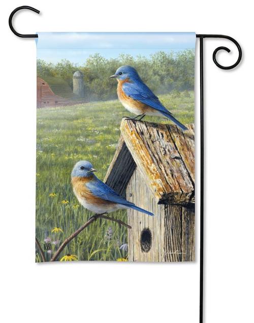 Bluebirds Garden Flag