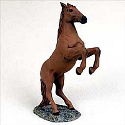 Chestnut Horse Rearing Figurine