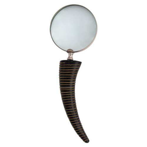 Dark Horn Handle Magnifying Glass