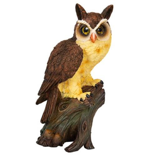 Owl on Stump Statue