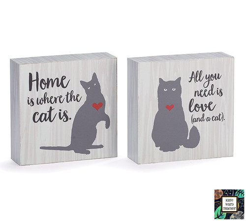 Cat Table Sign Set