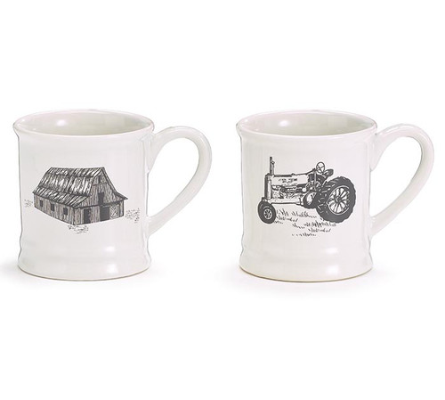 Barn & Tractor Mug Set