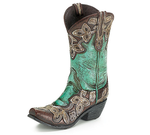 Cowgirl Boot Vase