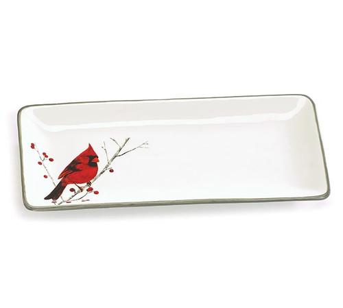 Red Cardinal Platter