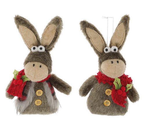 Donkey Pair Ornaments