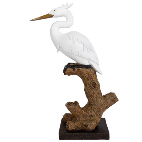 Great Egret Figurine, Large