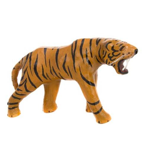 Orange Leather Tiger Figurine
