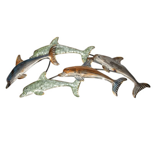 Jumping Dolphins Wall Sculpture
