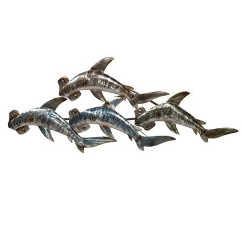 Hammerhead Sharks Wall Sculpture