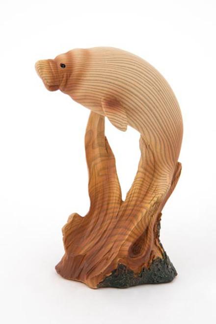 Wood-Look Manatee Figurine
