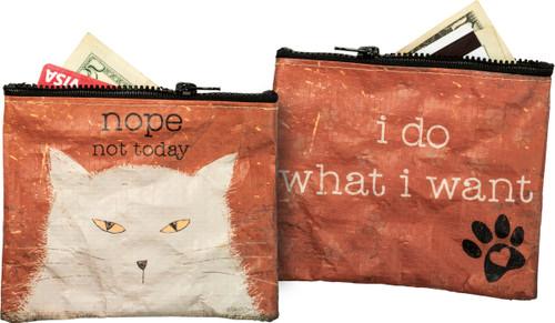 Nope Not Today Zipper Wallet