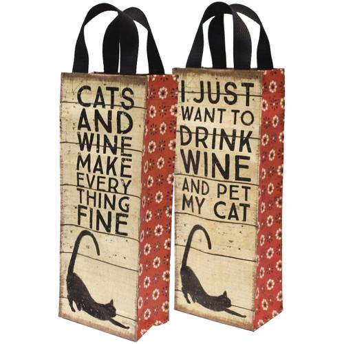 Cats Wine Tote