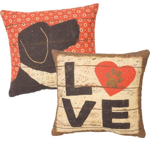 Dog Love Accent Pillow