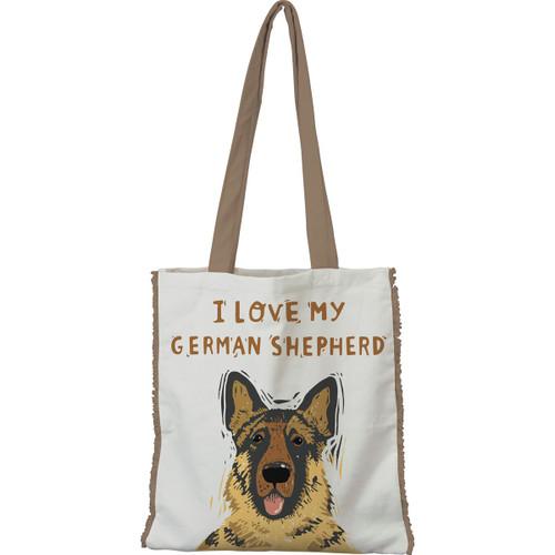 I Love My German Shepherd, Black & Tan Tote