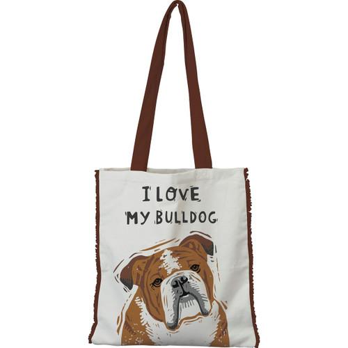 I Love My Bulldog Tote