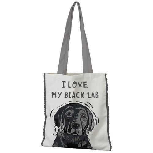 I Love My Black Lab Tote
