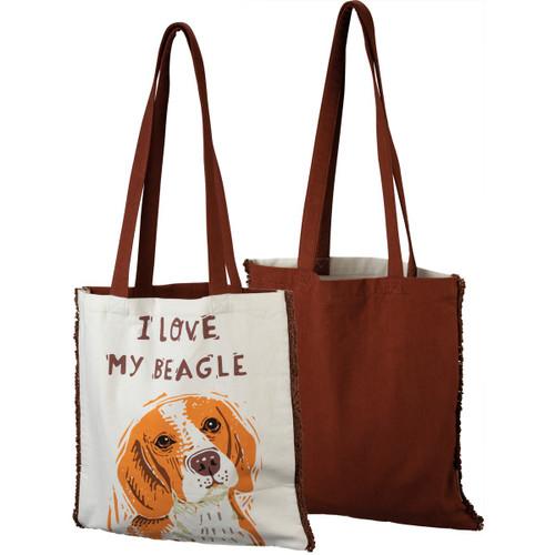 I Love My Beagle Tote