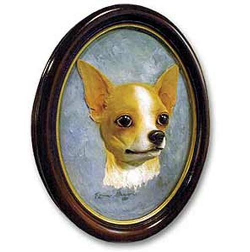 Chihuahua, Tan & White Sculptured Portrait