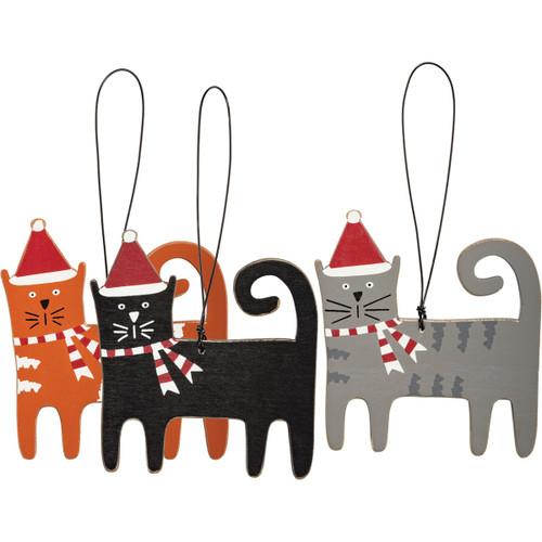 Holiday Kitty Ornaments