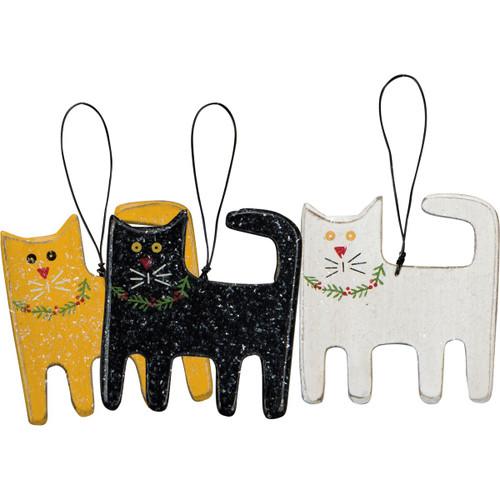 Holiday Kitty Ornament Set