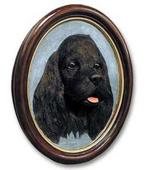 Cocker Spaniel, Black Sculptured Portrait