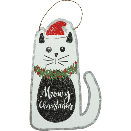Meowy Christmas Cat Ornament