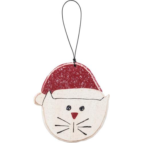 White Kitty Ornament