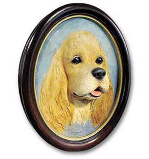Cocker Spaniel, Blonde Sculptured Portrait